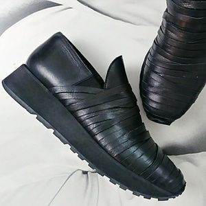 LD TUTTLE Leather Wedge Sneakers